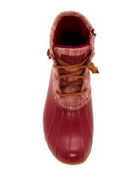Sperry Top-Sider - Red Saltwater Waterproof Canvas Duck Boot - Lyst