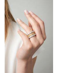 Freida Rothman - Metallic Set Of Three Stacking Rings - Lyst