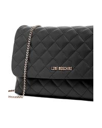 Love Moschino - Black Quilted Evening Clutch - Lyst