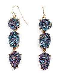 BaubleBar - Blue Meiko Druzy Triple Drop Earrings - Lyst
