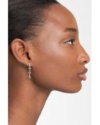 Freida Rothman | Metallic Contemporary Deco Triple Drop Earrings | Lyst