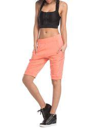 Lime & Vine Pink Kimmy Side Panel Detail Harem Shorts
