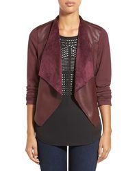 Kut From The Kloth - Multicolor Lincoln Faux Leather Drape Front Jacket - Lyst