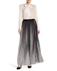 Haute Rogue - Black Pleated Maxi Skirt - Lyst