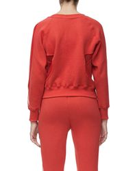 GOOD AMERICAN - Red Good Sweats Mesh Inset Sweatshirt (regular & Plus Size) - Lyst