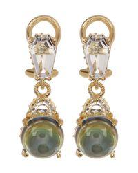 Judith Ripka - Gold Plated Sterling Silver Blue Topaz Earrings - Lyst