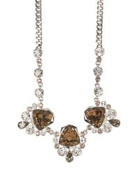 Givenchy - Metallic Crystal Drama Frontal Necklace - Lyst