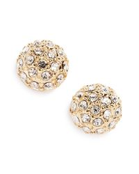 Judith Jack - Metallic 10k Gold Plated Sterling Silver Fireball Cz Stud Earrings - Lyst