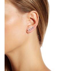 Marchesa - Multicolor Cz Ear Crawler Earrings - Lyst