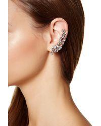 Marchesa - Metallic Drama Stone Crystal Crawler Earrings - Lyst