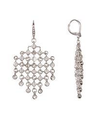 Jenny Packham - Multicolor Mesh Bezel Set Crystal Chandelier Drop Earrings - Lyst