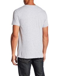 William Rast - Gray Washed Flag Graphic Tee for Men - Lyst