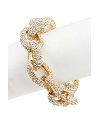 Saachi - Metallic Pave Crystal Chain Bracelet - Lyst