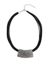 Saachi - Black Roman Leather Necklace - Lyst