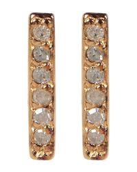 Kenneth Cole - Metallic Sterling Silver Diamond Detail Bar Stud Earrings - 0.06 Ctw - Lyst