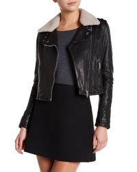 Doma Leather | Black Grain Genuine Dyed Lamb Fur Nappa Jacket | Lyst