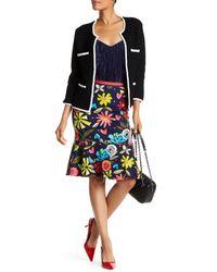 Trina Turk - Blue Alina Floral Skirt - Lyst