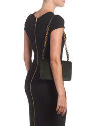 Tory Burch - Black Sadie Velvet Shoulder Bag - Lyst
