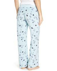 Make + Model - Blue Fleece Pajama Pants - Lyst