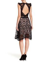 Haute Rogue - Black Cutout Lace Dress - Lyst