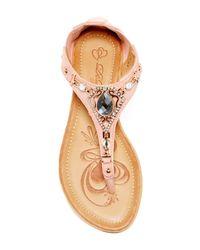 Elegant Footwear - Pink Baldwin Embellished Sandal - Lyst