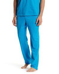 Papi - Blue Henley Tee & Pant Loungewear Set for Men - Lyst