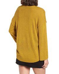BP. - Yellow Exposed Seam Sweater (regular & Plus Size) - Lyst