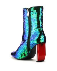 Cape Robbin - Blue Terra Sequined Boot - Lyst