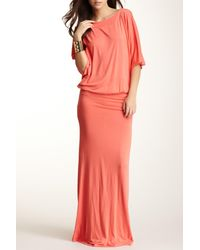 95faaa19a0c Lyst - Go Couture Dolman Sleeve Maxi Dress in Pink