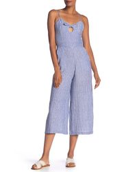 b27b810d091d Lyst - RACHEL Rachel Roy Peek-a-boo Striped Crop Jumpsuit in Blue