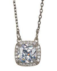 Jessica Simpson - Metallic Princess & Halo Set Cz Detail Pendant Necklace - Lyst