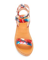 French Connection - Multicolor Jaclyn Platform Sandal - Lyst