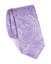 Calibrate - Purple Floating Paisley Silk Tie for Men - Lyst
