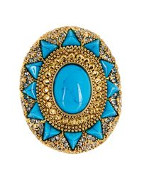 House of Harlow 1960 - Blue Wari Ruins Cocktail Ring - Size 6 - Lyst
