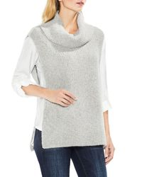 Two By Vince Camuto - Gray Sleeveless Ribbed Turtleneck - Lyst