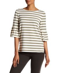 Max Studio | Multicolor Striped Bell Sleeve Tee | Lyst