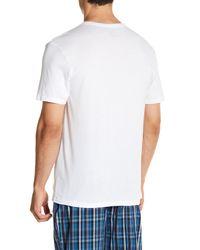 Tommy Hilfiger - White Cotton V-neck Tee - Pack Of 3 for Men - Lyst