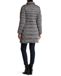 Andrew Marc - Gray Carly Genuine Fox Fur Quilted Long Jacket - Lyst