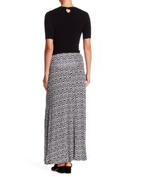 Bobeau - Black Convertible Knit Maxi Skirt - Lyst