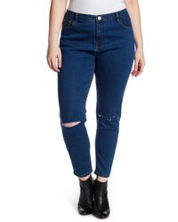 Glamorous - Blue Skinny Jeans (plus Size) - Lyst