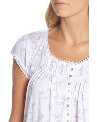 Eileen West - White Cotton & Modal Waltz Nightgown - Lyst