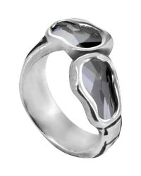 Uno De 50 - Gray Deep Eyes Swarovski Elements Accented Ring - Lyst
