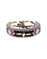 Rebecca Minkoff - Metallic Sparkler Beaded Friendship Bracelet - Lyst