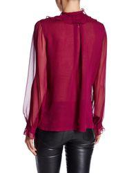 Oscar de la Renta - Multicolor Long Sleeve Silk Blouse - Lyst