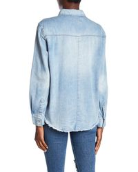 MINKPINK - Blue Free Ride Denim Shirt - Lyst