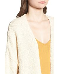 TOPSHOP - White Natural Yarn Cardigan - Lyst