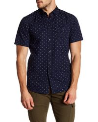 Obey - Blue Zander Short Sleeve Regular Fit Shirt for Men - Lyst