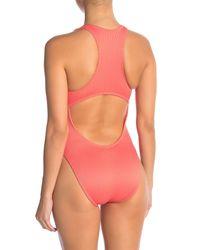 The Bikini Lab - Pink Rib-thym One-piece Swimsuit - Lyst