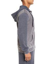 Daniel Buchler - Gray Washed Cotton Blend Terry Zip Hoodie for Men - Lyst