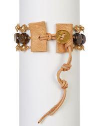 Chan Luu - Multicolor Faceted Bronzite & Rutilated Quartz Beads & Sun Link Bracelet - Lyst